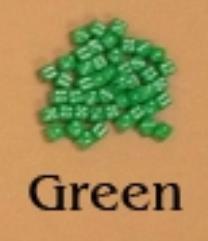 D6 5mm Green w/White (10)