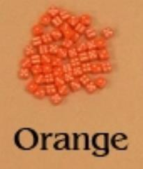 D6 5mm Orange w/White (10)