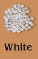 D6 5mm White w/Black (10)
