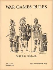 War Games Rules 3000 BC to 1250 AD (5th Edition, 1st printing)