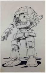 Wolf's Dragoons - IMP-2E Imp Original Art