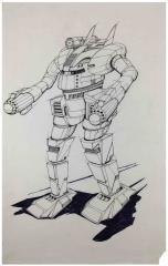 Wolf's Dragoons - SHG-2E Shogun Original Art