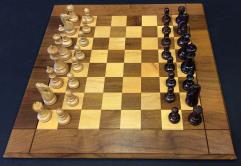 Chess - Wood Board w/Classic Style Wooden Pieces #1