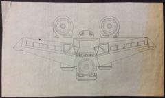 Last Starfighter, The - Xurian Utility Ship (Kodan Swarm Ship), Side View, Inked