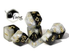 Poly Set Yin-Yang w/Gold (7)