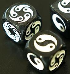 Zen Dice - Black w/White (2)