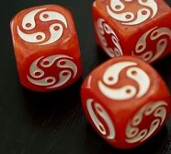 Zen Dice - Red w/White (2)