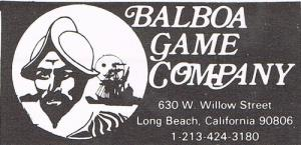 War Games (Balboa Game Company)