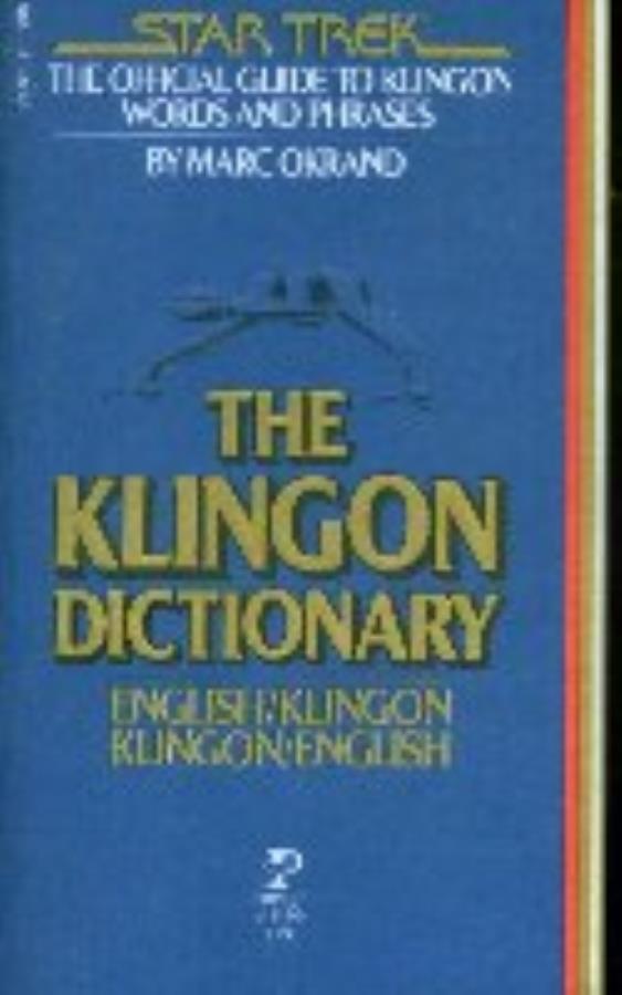 Klingon Dictionary The Star Trek Book Noble Knight Games