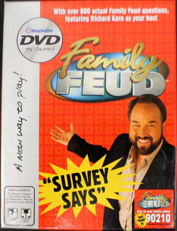Family Feud DVD Game - Boardgame - Noble Knight Games