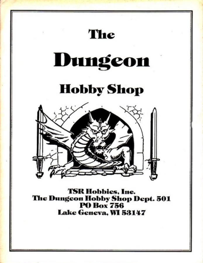 1982 Dungeon Hobby Shop Catalog - Catalog - Noble Knight Games