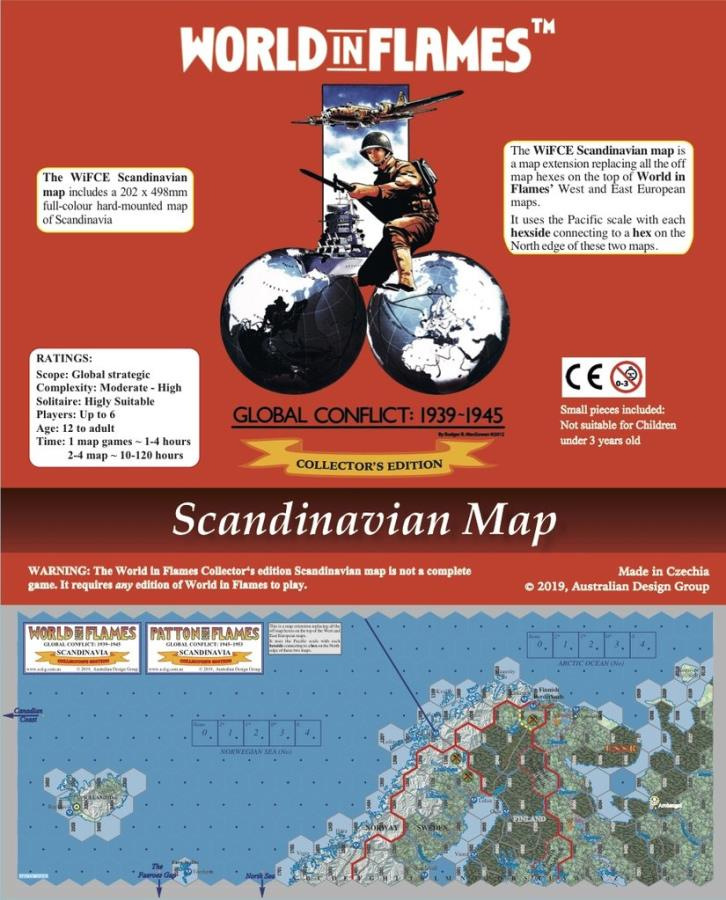 World In Flames Scandinavian Map World In Flames Noble Knight Games