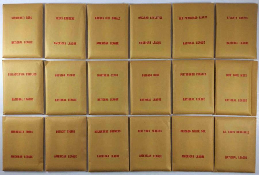 Apba Baseball 1973 Player Cards Complete Set 1974 Printing