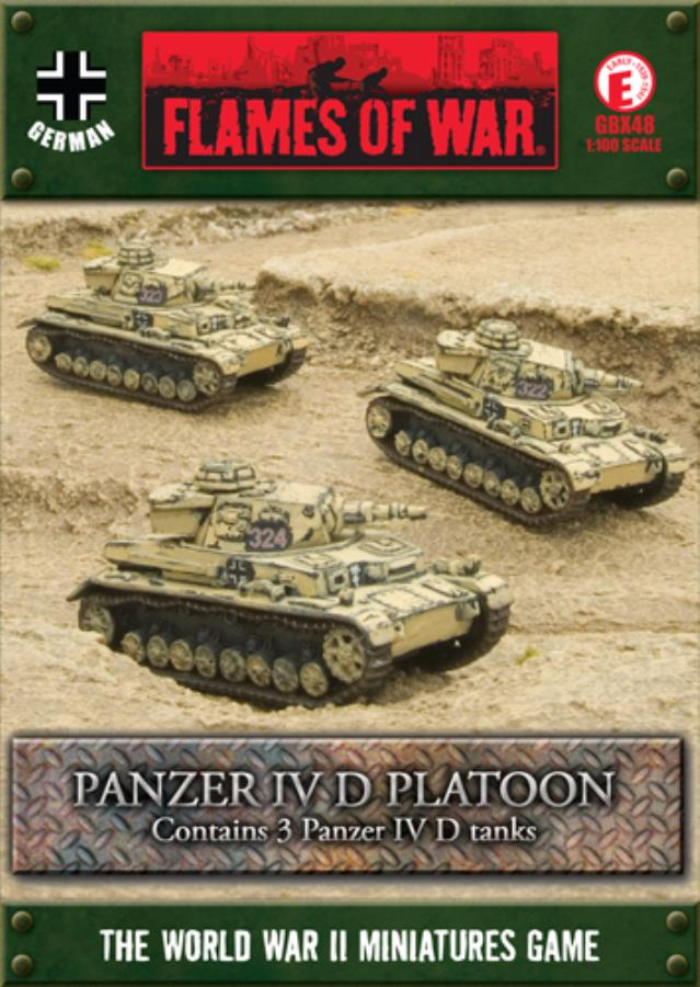 Panzer IV D Platoon - FoW WWII German 15mm - Noble Knight Games