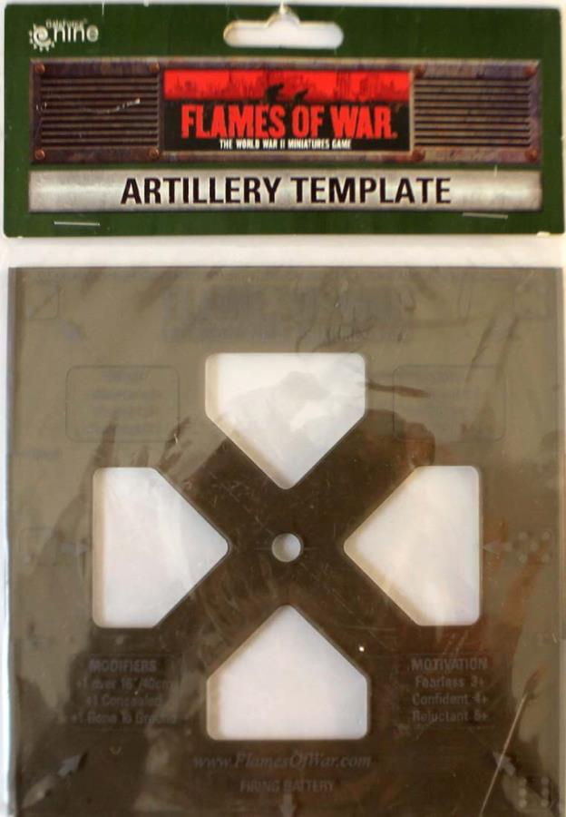 Artillery Template Flames Of War Noble Knight Games