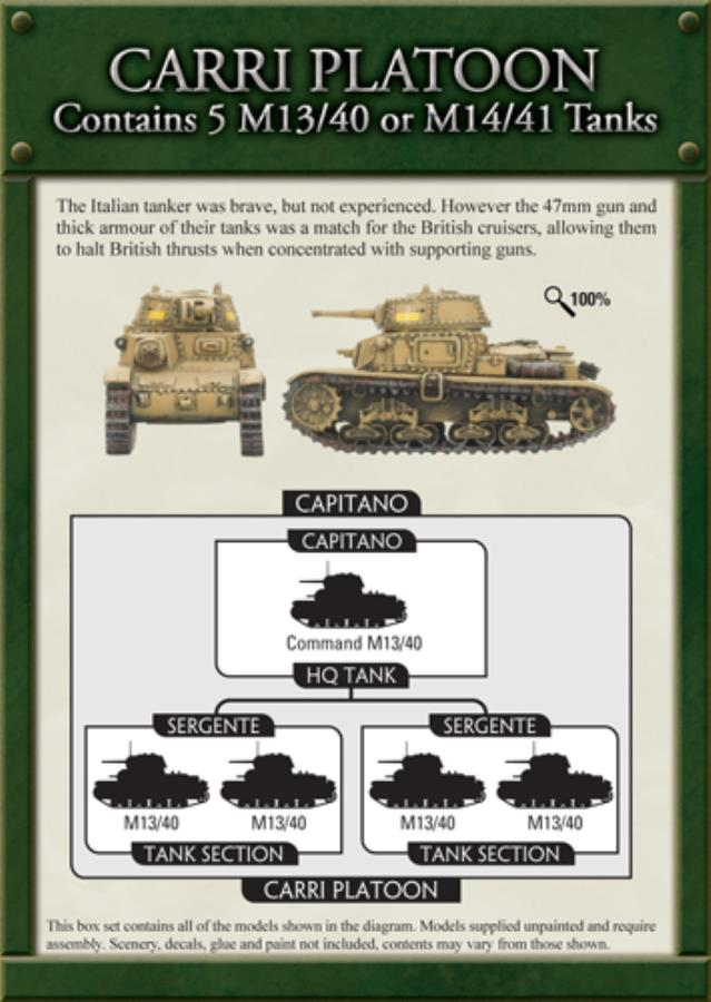 Carri Platoon - FoW WWII Italy 15mm - Noble Knight Games