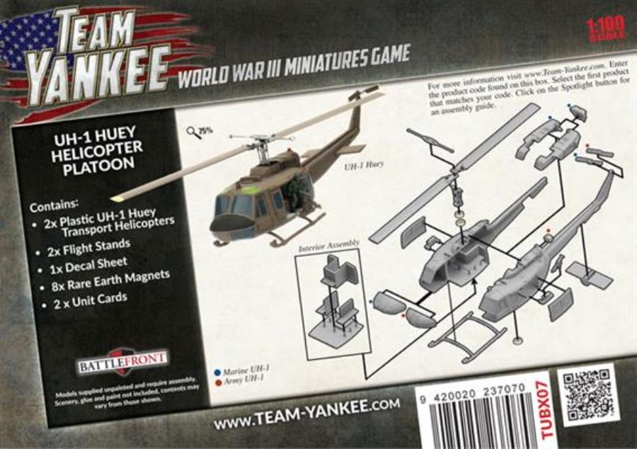 Battlefront Team Yankee American 1:100 UH-1 Huey Helicopter Platoon Box MINT