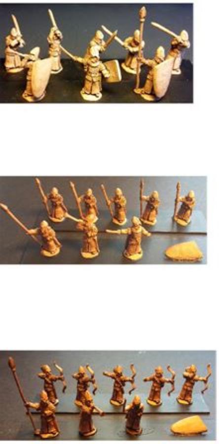 15mm Fantasy Elvian Bowmen 16 figures Toys & Hobbies Miniatures, War