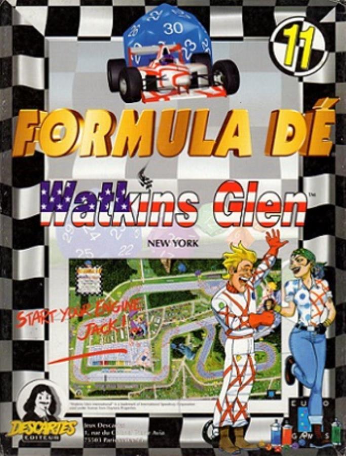 Formula Dé Circuits 11 & 12: Watkins Glen & Silverstone board game