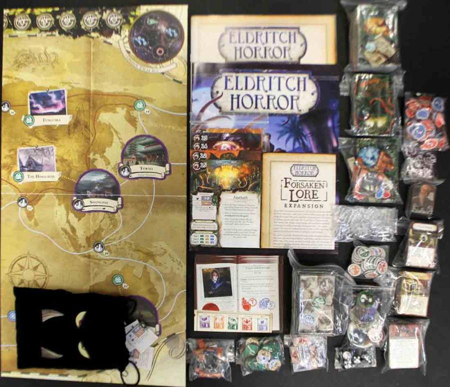 NEW Eldritch Horror Forsaken Lore Game Expansion Arkham Files Fantasy Flight