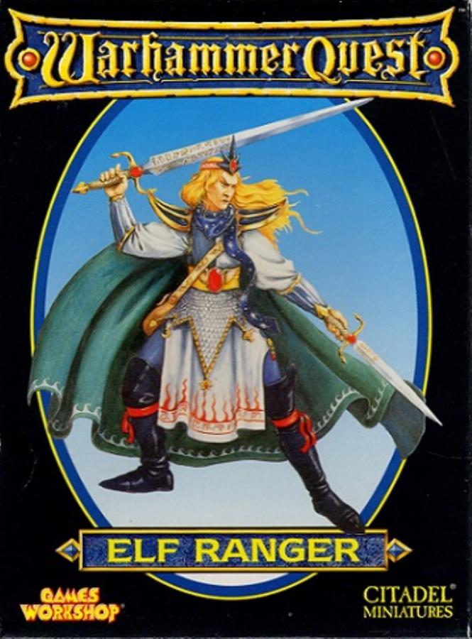 Classic Warhammer Quest Elf Cards Equipment /& Token Games Workshop 1995