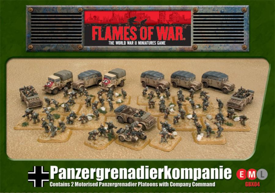 Motorized Panzer Grenadier Company - FoW WWII German 15mm - Noble