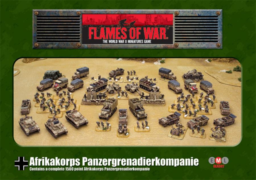 Afrika Korps Panzer Grenadier Company - FoW WWII German 15mm - Noble
