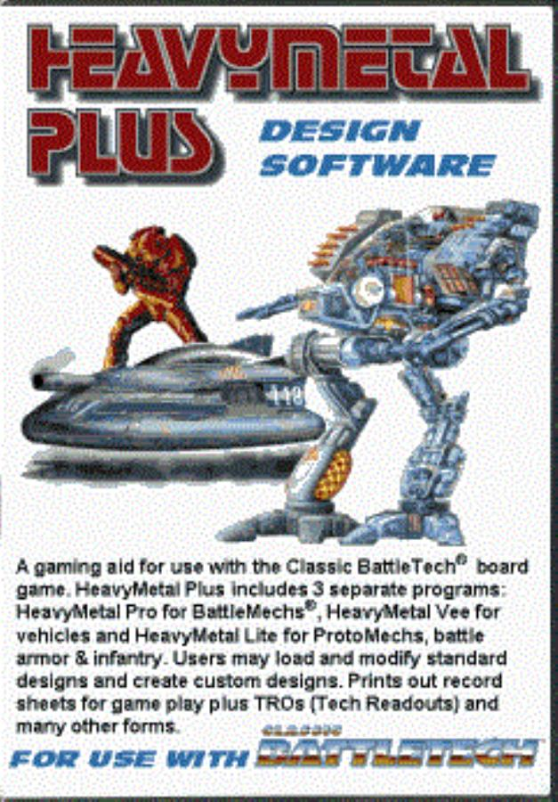 HeavyMetal Plus Official Battletech Design Software Classic - Board game design software