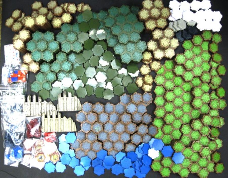 Heroscape Mega Terrain Lot - 933 Hexes on 306 Tiles! - HeroScape