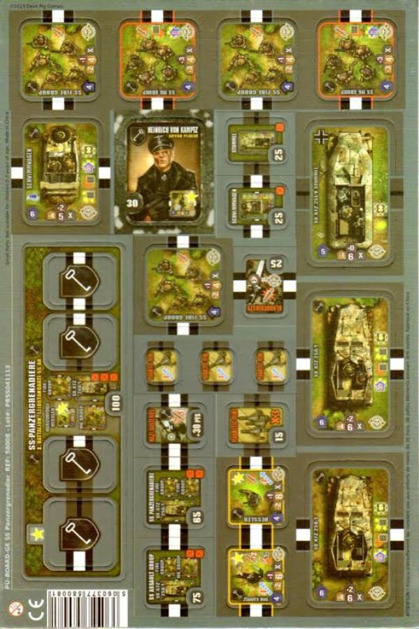 SS Panzergrenadier - Boardgame - Noble Knight Games