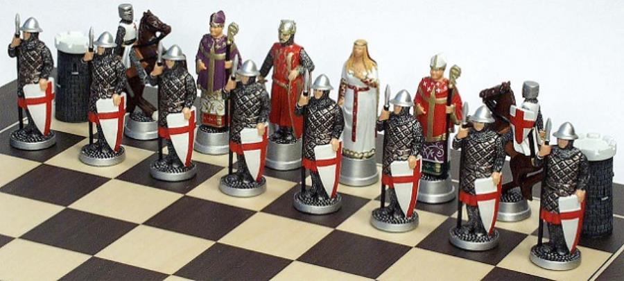 Crusades Moulds Richard The Lionheart S Side Chess Set Mould 54mm Noble Knight Games