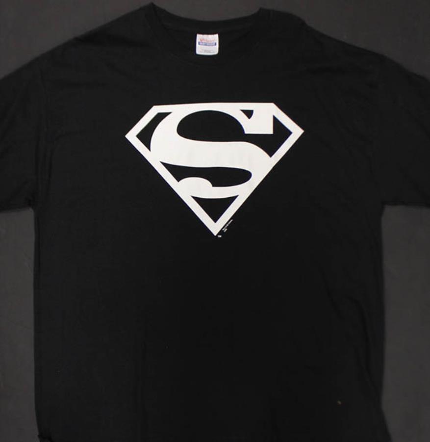 Superman Symbol T Shirt Black White L Superman T Shirt