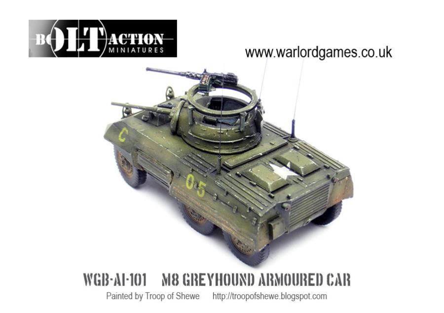M8 Greyhound Armored Car - Bolt Action US Army 28mm - Noble