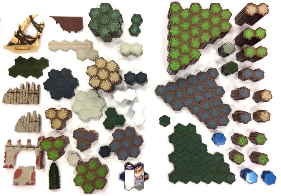 Heroscape Mega Terrain Collection - 1,037 Hexes on 289 Tiles!