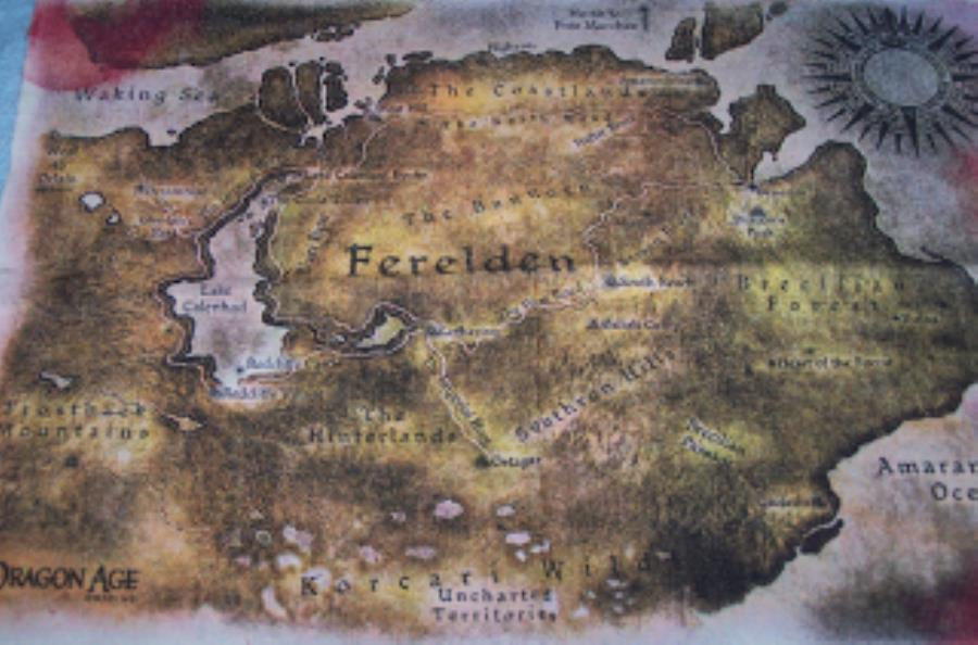 Dragon Age - Ferelden Cloth Map - Computer Game - Noble Knight Games
