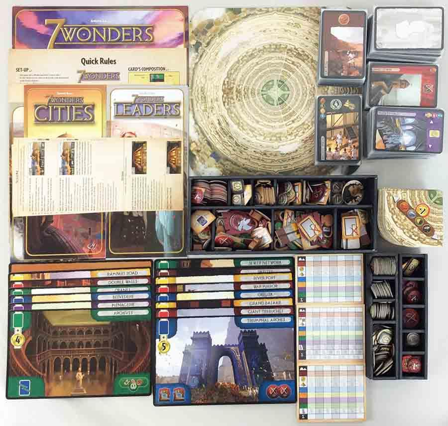Repos Prod Boardgame 7 Wonders Collection  4 - Base Game + 3 Expansions  VG