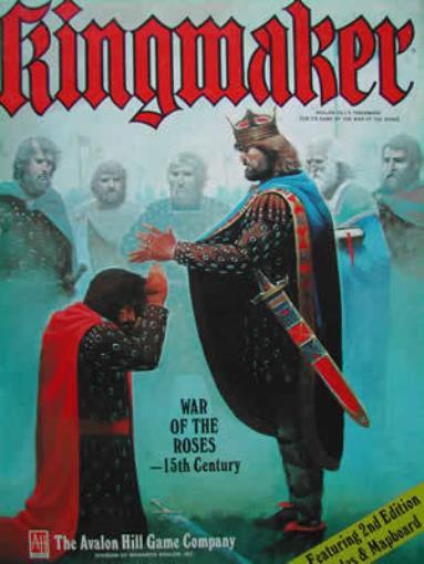 Avalon Hill Jeux de guerre faiseur de rois (2nd édition) box VG -
