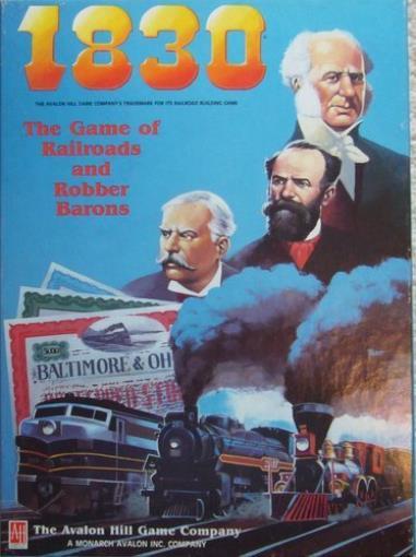 Avalon Hill Boardgame 1830 w/Coalfields Variant Box Fair