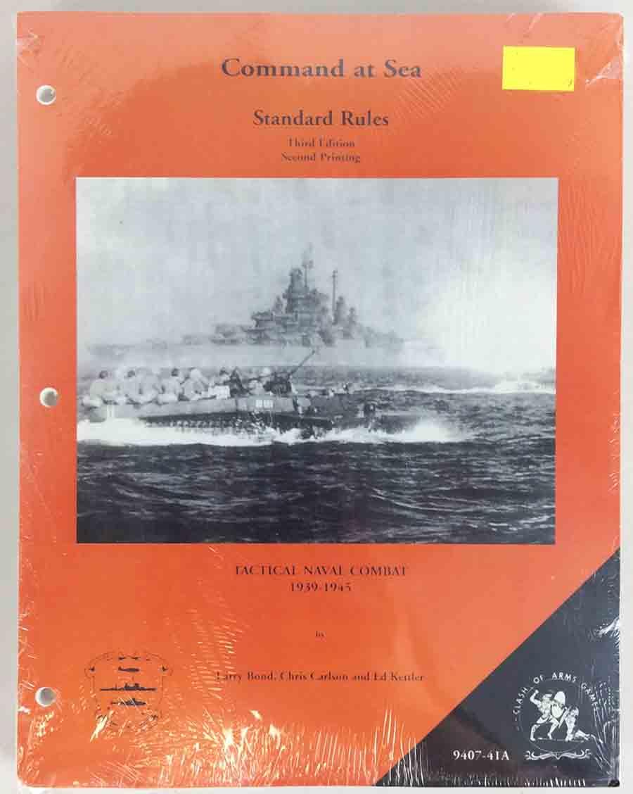 Clash of Arms Command at Sea Command at Sea (3rd Edition, 2nd Printing) Zip SW