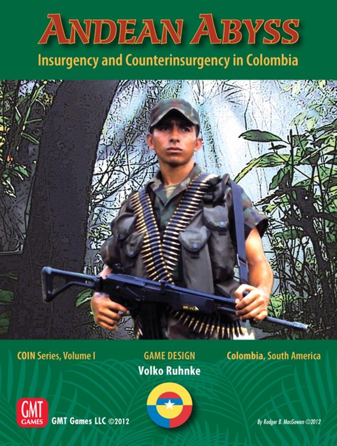 GMT Wargame Andean Abyss - Insurgency and Counterinsurgency in Colombia Box NM