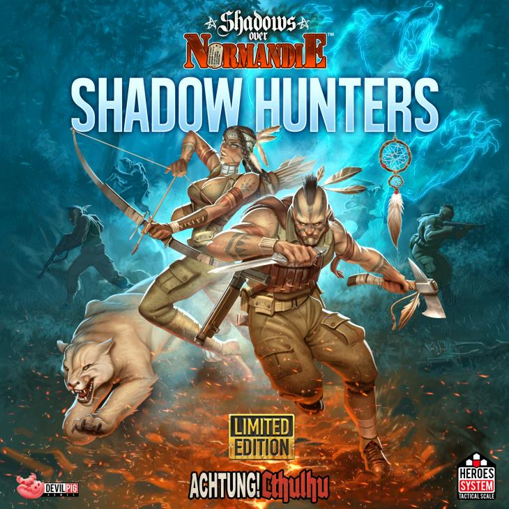 Iello Boardgame Shadows over Normandie - Shadow Hunters Zip SW