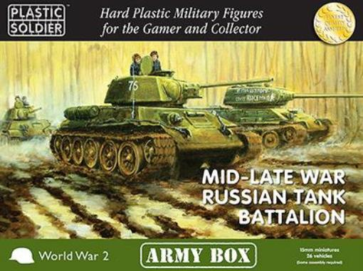 PSC la Segunda Guerra Mundial Rusia Mini 15mm mediados finales de la guerra batallón de tanques ruso Caja Como Nuevo