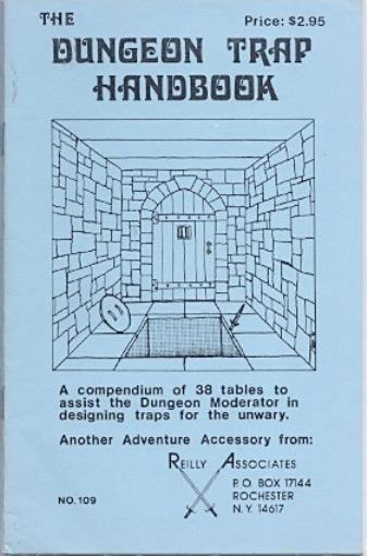 Reilly Associates RPG Accessory Dungeon Trap Handbook, The SC SW