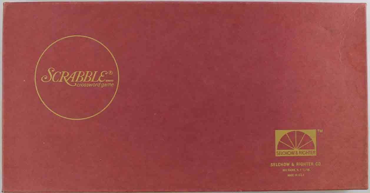 100% Kwaliteit Selchow & Righter Boardgame Scrabble (1976 Edition) Box Ex Ongelijke Prestaties