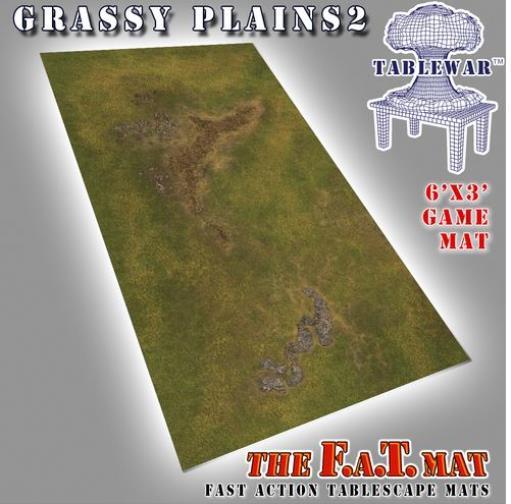 Grasa tablewar 6' X 3' 6' X 3' - hierbas verdes llanuras  2 Como Nuevo