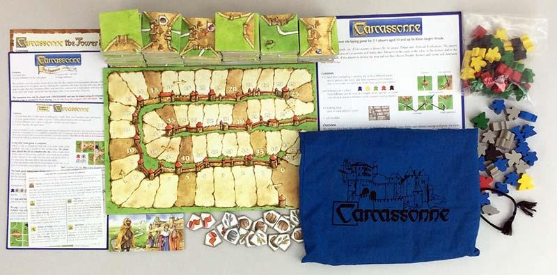 Rio Grande Boardgame Carcassonne Collection  6 - Base Game + 3 Expansions  EX