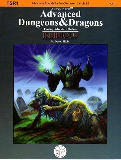 Die Cast Games OSRIC RPG Insidious  1st Printing  SC VG+