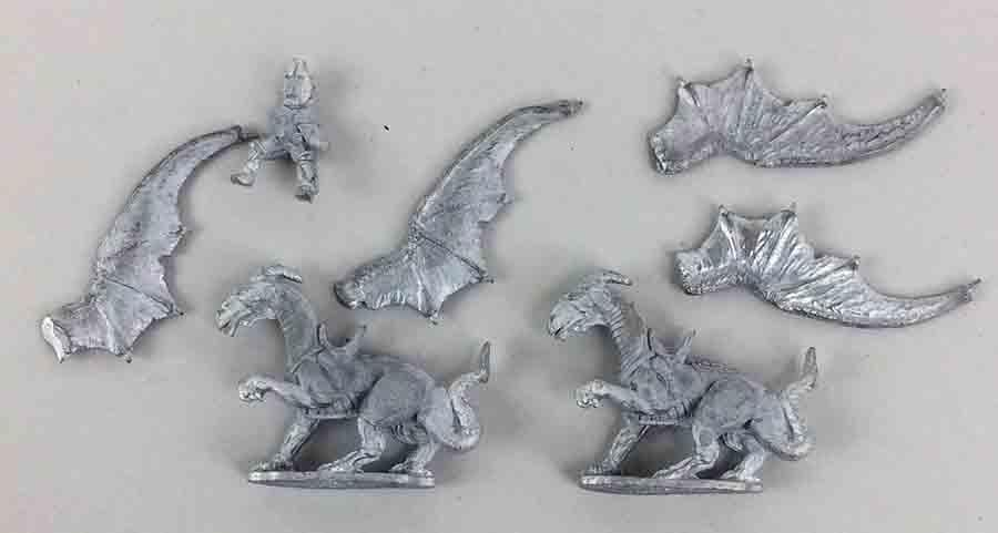 Grenadier Fantasy Lords Loose Mini War Dragons w Rider Box NM
